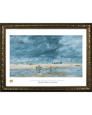 Buy Art For Less Museum Masters 'Figures on the Beach' by Louis Eugene Boudin Framed Painting Print IF MFA66G