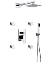Great Prices For Rebrilliant Cahoon Complete Shower System W Rough In Valve Chrome Wayfair 0f9fde41f321471184c8a403d1d238f7