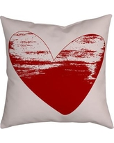 SafiyaJamila Holiday Treasures Watercolor Sketchy Love Heart Throw Pillow SketchyLove_ Color: Red