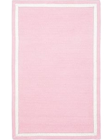 Capel Chenille Rug 5' x 8' Rectangle, Light Pink with White