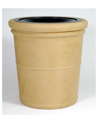 Allied Molded Products Palm Beach 35 Gallon Trash Can 7L3132T Color: Bone Configuration: Trash and Ash