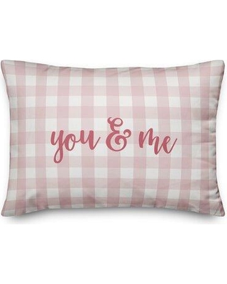 Ebern Designs The Lyell Collection You & Me Throw Pillow W001205173 Color: Pink