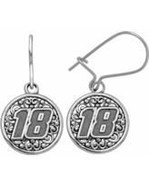 """Insignia Collection Nascar Kyle Busch Stainless Steel """"18"""" Drop Earrings, Women's, Grey"""