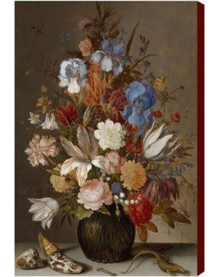 """Art Remedy 'Flower Arrangement V ' by Oliver Gal Graphic Art Print on Canvas TA14028_ Size: 16"""" H x 24"""" W"""