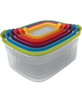 Joseph Joseph Nest Storage Set of 6 Compact Food Storage Containers, Multi-Colored