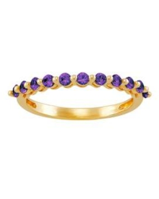 Belk & Co. Gold Amethyst Band Ring in 10K Yellow Gold