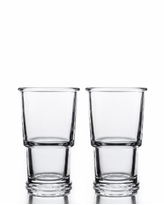 Bomshbee Ring Wine Highball Glasses - Set of 2 - Clear