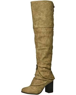 2 Lips Too Women's Too Liam Over The Knee Boot, Taupe, 5.5 M US