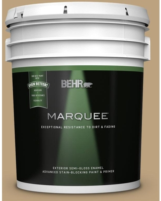 BEHR MARQUEE 5 gal. #MQ2-28 Modern History Semi-Gloss Enamel Exterior Paint and Primer in One