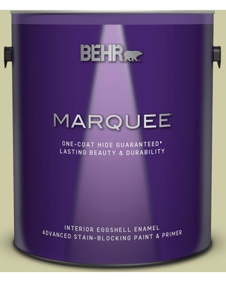 BEHR MARQUEE 1 gal. #ICC-58 Crisp Celery Eggshell Enamel Interior Paint and Primer in One
