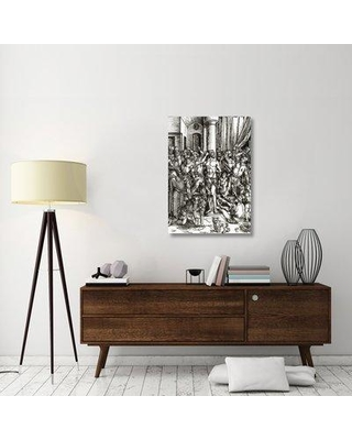 """East Urban Home 'The Great Passion 2' Graphic Art Print on Canvas ESUH3053 Size: 40"""" H x 28"""" W x 1.5"""" D"""