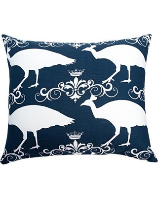 The Well Dressed Bed Pea Accent Cotton Throw Pillow Color Navy