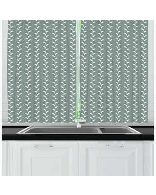 Abstract Kitchen Curtain East Urban Home