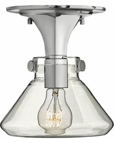 """Hinkley Congress 8"""" Wide Clear Glass Chrome Ceiling Light"""