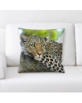 World Menagerie Pritchard Leopard Throw Pillow BF134170