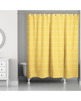 Bungalow Rose Greenwood Single Shower Curtain BF174659 Color: Yellow