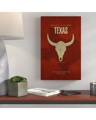 """Wrought Studio 'State Animal Texas' Graphic Art Print on Wrapped Canvas WRSD2258 Size: 16"""" H x 24"""" W x 2"""" D"""