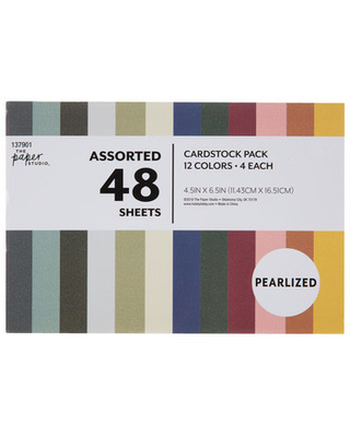 "Pearlized Cardstock Paper Pack - 4 1/2"" x 6 1/2"""