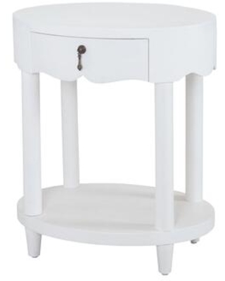 7011-957W St. Kitts Accent Table In Natural Raffia