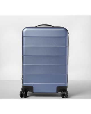 """Hardside 20"""" Carry On Spinner Suitcase Blue - Made By Design"""