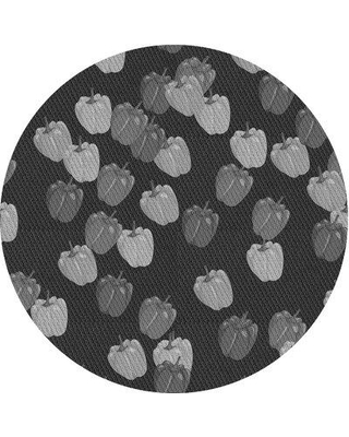 East Urban Home Fellers Wool Gray Area Rug W002561817 Rug Size: Round 5'