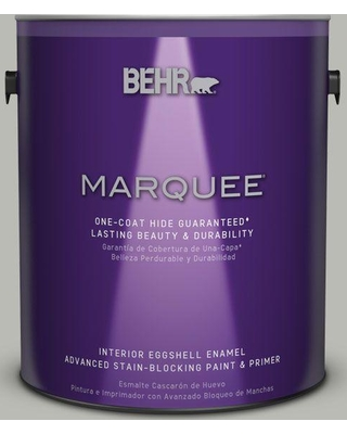 BEHR MARQUEE 1 gal. #N380-3 Weathered Moss One-Coat Hide Eggshell Enamel Interior Paint and Primer in One