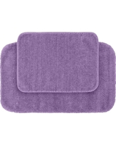 Garland 2 Piece Traditional Washable Nylon Bath Rug Set - Purple