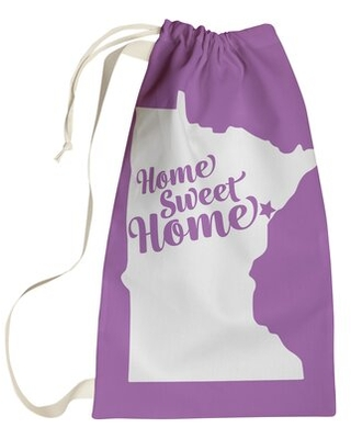 """Home Sweet Duluth Laundry Bag East Urban Home Size: Large (36"""" H x 28"""" W), Color: Violet"""