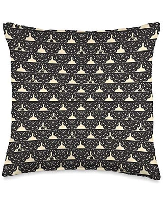 Spider Web Gifts Spiders & Lace Gothic Pattern Spider Lover Throw Pillow, 16x16, Multicolor