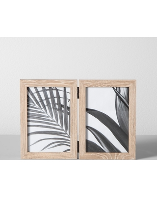 """Thin Hinged Frame Holds 2 Photos Natural 4""""x6"""" - Made By Design"""