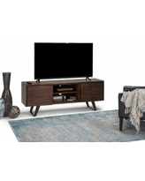 Lowry TV Media Stand in Distressed Charcoal Brown - Simpli Home AXCLRY-08