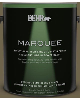 BEHR MARQUEE 1 gal. Home Decorators Collection #hdc-AC-15 Peat Semi-Gloss Enamel Exterior Paint & Primer