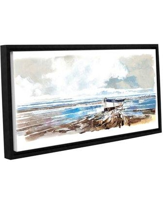 "Breakwater Bay Boat on Shore Framed Painting Print BRWT7903 Size: 16"" H x 24"" W x 2"" D"