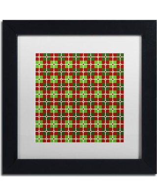 """Trademark Art 'Dotted Christmas Plaid 2' Framed Graphic Art on Canvas ALI3296-B1111BMF / ALI3296-B1616BMF Size: 11"""" H x 11"""" W x 0.5"""" D Matte Color: White"""