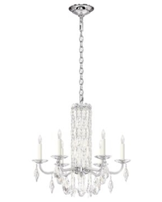 Sarella 6 - Light Candle Style Classic Chandelier with Crystal Accents