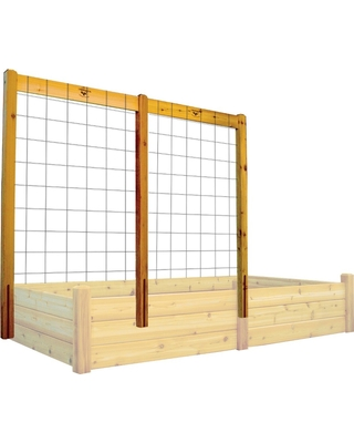 "80"" Raised Garden Bed Trellis Kit - Wood - Gronomics"