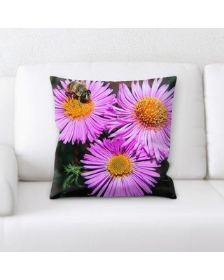 East Urban Home Flowers Throw Pillow W000116519