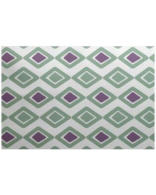 Discover Deals On George Oliver Ferrier Geometric Flatweave Green Area Rug Polyester In Purple Size Rectangle 2 X 3 Wayfair Ebnd6478 40983183