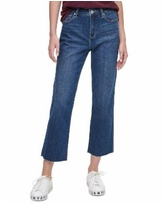 Dkny Jeans Cropped Straight-Leg Pants - Classic Blue