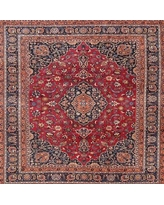 Can T Miss Deals On Pavlatka Traditional Mehroon Black Blue Area Rug Bloomsbury Market Rug Size Square 7