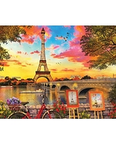 Springbok Puzzles - Paris Sunset - 1000 Piece Jigsaw Puzzle - Large 30 Inches by 24 Inches Puzzle - Made in USA - Unique Cut Interlocking Pieces
