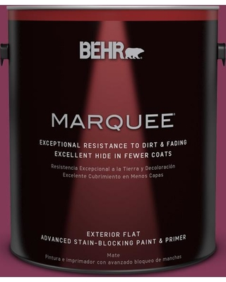 BEHR MARQUEE 1 gal. #110D-6 Haunting Melody Flat Exterior Paint and Primer in One