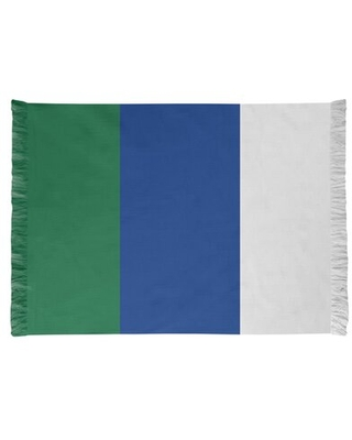 Seattle Throwback Football Blue/Green Area Rug
