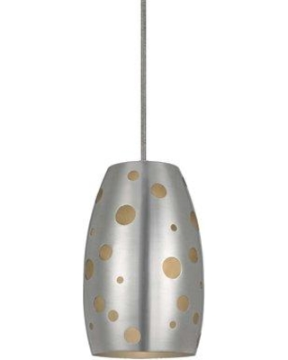 Ivy Bronx Colebrook 1 - Light Single Bell Pendant JWZC2144 Finish: Brushed Steel