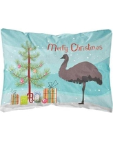 The Holiday Aisle Imperial Emu Christmas Fabric Indoor/Outdoor Throw Pillow BF148773