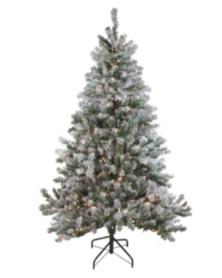 Northlight 6' Pre-Lit Flocked Balsam Pine Artificial Christmas Tree - Clear Lights