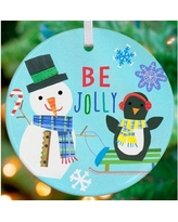 New Bargains On Oopsy Daisy Christmas Time Reindeer Of Cheer Personalized Ornament By Jill Mcdonald Nb45020