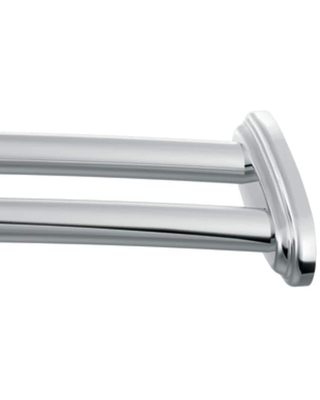 Moen 60-in Chrome Curved Adjustable Double Shower Curtain Rod | DN2141CH