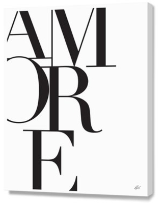 Amore by Renee Tohl Textual Art on Canvas Curioos