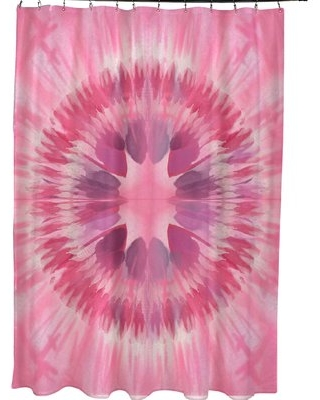 Armstrong Shibori Burst Single Shower Curtain Bungalow Rose Color: Pink